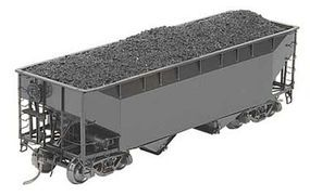 Kadee 50-Ton Standard Offset 2-Bay Open Hopper Undecorated HO Scale Model Train Freight Car #7001