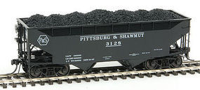 Kadee 50-Ton AAR Standard Offset 2-Bay Hopper Pittsburg & Shawmut #3128 HO Scale Model #7058
