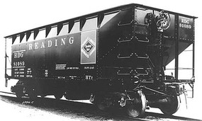 Kadee 50-Ton AAR Standard Offset 2-Bay Open Hopper w/Coal Load - Ready to Run Reading #81089 (Built 1948, Factory New, black, red, Anthracite Logo)
