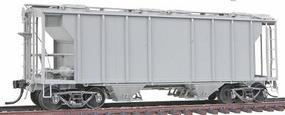 Kadee PS-2 2-Bay Covered Hopper Undecorated (gray) HO Scale Model Train Freight Car #8001