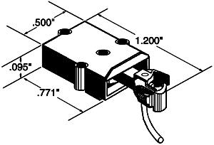 Kadee Quality Products Coupler w/Gearbox Plastic (2) O/On30 -- O Scale Model Train Coupler -- #804