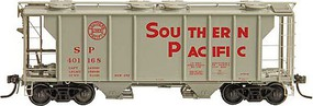 Kadee PS-2 2-Bay Covered Hopper - Ready to Run Southern Pacific 401168 (1957 Scheme, gray, red Lettering)