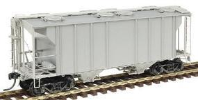 Kadee PS-2 Two-Bay Covered Hopper w/Scale Coupler Undecorated HO Scale Model Train Freight Car #8601