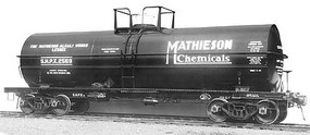 Kadee ACF 11,000-Gallon Tank Car - Ready to Run Mathieson Chemicals SHPX 2570 (black)