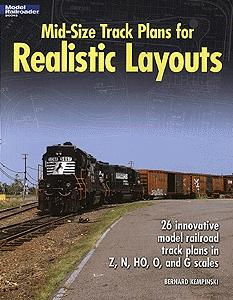 Kalmbach-Publishing Mid-Size Track Plans for Realistic Layouts Model Railroading Book #12424