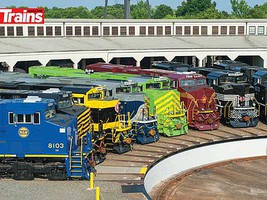 Kalmbach 2012 Gathering in Spencer N.C. of all 20 NS Heritage Locomotives 550 Pieces, 18 x 24 45.7 x 61cm