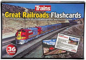 Kalmbach-Publishing Great Railroad Flashcards