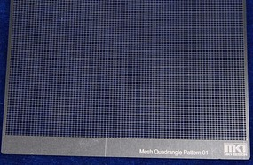 KAModels Quadrangle Pattern Mesh A 0.5mm x 0.7mm (Photo-Etch)