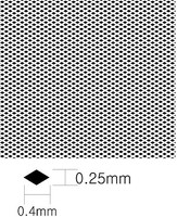 KAModels Diamond Pattern Mesh A 0.4mm x 0.7mm (Photo-Etch)