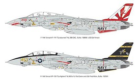 KAModels 1/72 F14A Tomcat Sundowners Fighter (Plastic Kit)