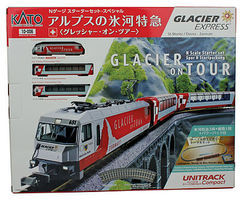Kato Glacier Express Starter Set N Scale Model Train Set #10006