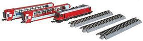Kato Alpine Glacier Express 3-Unit Basic Set - Standard DC N Scale Model Train Set #1001145