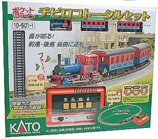 Kato Pocket Line Steam Starter Set - Standard DC N Scale Model Train Set #105011