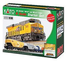 Kato GE ES44AC GEVO Mixed Freight Starter Set - BNSF Railway N Scale Model Train Set #1060024