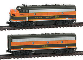 Kato EMD F7 A/B Set Great Northern #444A/B N Scale Model Train Diesel Locomotive #1060420