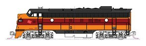 Kato EMD FP7A-F7B Set - Standard DC Milwaukee Road #95A, 95B (orange, maroon) - N-Scale