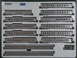 Kato California Zephyr Set - 11 Cars - N-Scale