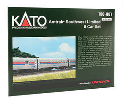 Kato Amtrak Southwest Limited 8-Car Set w/Display Unitrack N Scale Model Railroad #106081