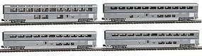 Kato Amtrak Superliner 4-Car Set B - Ready to Run N Scale Model Train Passenger Car #1063516