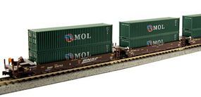 Kato Gunderson Maxi-I 5-Unit Double-Stack Well Car BNSF N Scale Model Train Freight Car #1066153