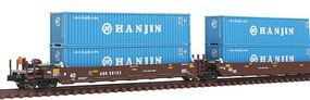 Kato Gunderson Maxi-I 5-Unit Double-Stack Well Car N Scale Model Train Freight Car #1066156