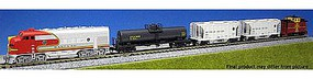 Kato Diesel Freight Train-Only Set Standard DC Santa Fe N Scale Model Train Set #1066271