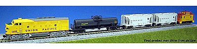 Kato Diesel Freight Train-Only Set - Standard DC - Union Pacific N Scale Model Train Set #1066272