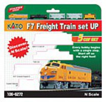 Kato N F7A Freight Set Up W/sd