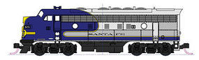 Kato Bluebonnet F7 Diesel Freight Train-Only Set - Santa Fe N Scale Model Train Set #1066273