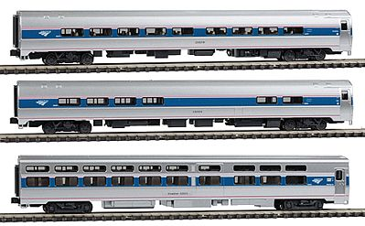 Kato USA Inc Intercity Express 3-Car Set - Ready to Run - Amtrak -- N Scale Model Train Passenger Car -- #1066286