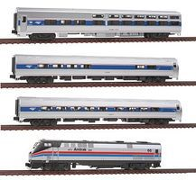 Kato Amtrak 40th Anniversary Train-Only Set Amtrak #66 N Scale Model Train Set #10662862