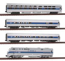 Kato Amtrak 40th Anniversary Train-Only Set Amtrak #184 N Scale Model Train Set #10662864