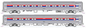 Kato Amfleet Passenger Set AMTRAK (Set of 4) N Scale Model Train Passenger Car #1068011