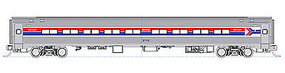 Kato Amfleet Coach Set A AMTRAK (2 Car Set) N Scale Model Train Passenger Car #1068012