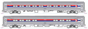 Kato Coach/Cafe Set B AMTRAK (Set of 2) N Scale Model Train Passenger Car #1068013