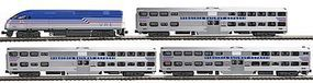 Kato Virginia Railway Express Commuter Train MP36PH Loco N Scale Model Train Set 1068705