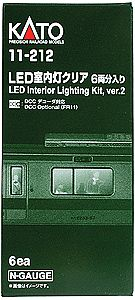 Kato USA Inc Interior Lighting - Kit - Version 2 (2012) pkg(6) -- N Scale Model Train Passenger Car -- #11212