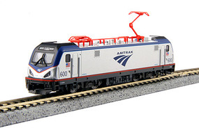 Kato Siemens ACS-64 Electric - Standard DC Amtrak #600 David L. Gunn (silver, blue, red, Travelscape Logo) - N-Scale