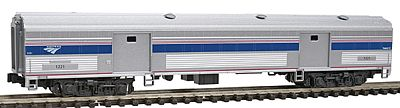Kato USA Inc Streamlined Baggage Amtrak #1221 (Phase VI) -- N Scale Model Train Passenger Car -- #1560953