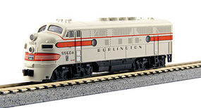 Kato EMD F3A Chicago, Burlington, & Qunicy #9960A N Scale Model Train Diesel Locomotive #1761313