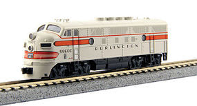 Kato EMD F3A Chicago, Burlington, & Qunicy #9960C N Scale Model Train Diesel Locomotive #1761314