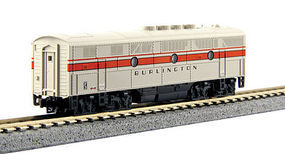 Kato EMD F3B Chicago, Burlington, & Qunicy N Scale Model Train Diesel Locomotive #1761315