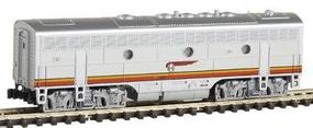 Kato EMD F7B Standard DC Powered Santa Fe (Warbonnet, red, silver) N-Scale