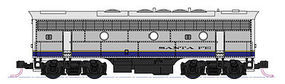 Kato EMD F7B ATSF Blue Bonnet N Scale Model Train Diesel Locomotive #1762213