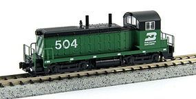 Kato EMD NW2 - Standard DC Burlington Northern #504 N Scale Model Train Diesel Locomotive #1764369