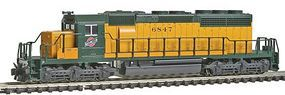 Kato EMD SD40-2 Early Production Chicago & NW #6847 N Scale Model Train Diesel Locomotive #1764818