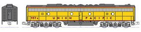 Kato EMD E8/9B - Standard DC Union Pacific 957B (Late Passeneger Scheme, Armour Yellow, gray, red) - N-Scale