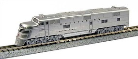 Kato EMD E5A w/DCC Chicago, Burlington & Quincy #9910A Silver Speed (silver, black) - N-Scale