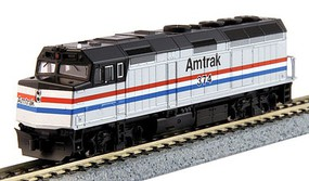 Kato EMD F40PH As-Built Version - DCC Amtrak #374 (Phase III, silver, black, Equal red, white, blue stripes) - N-Scale