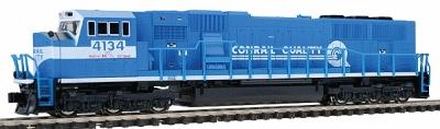 Kato USA Inc EMD SD70MAC - Standard DC Conrail #4134 (blue) -- N Scale Model Train Diesel Locomotive -- #1766305a